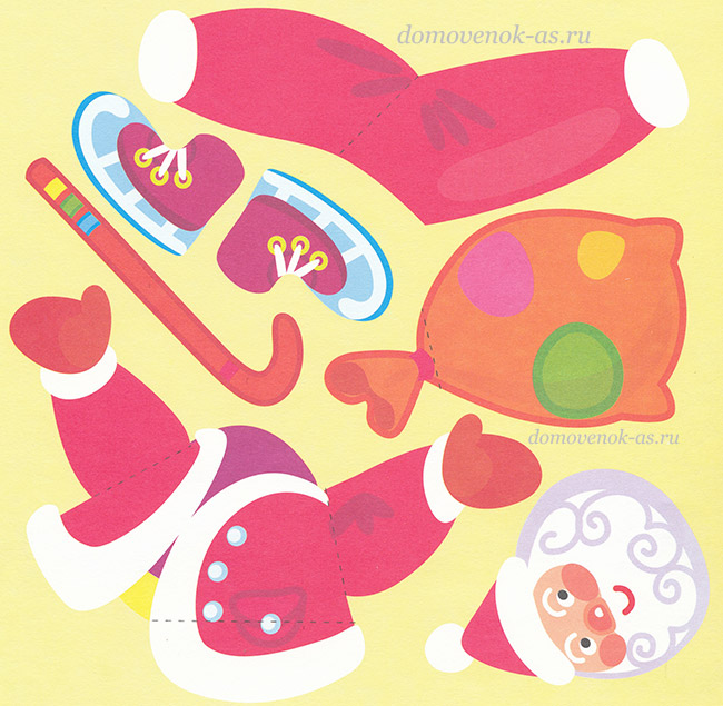 Картинки для аппликации для деда мороза