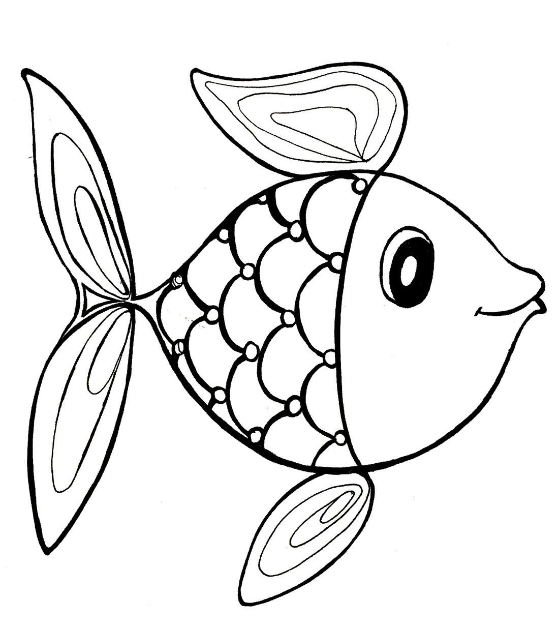 Раскраска. Рыбка