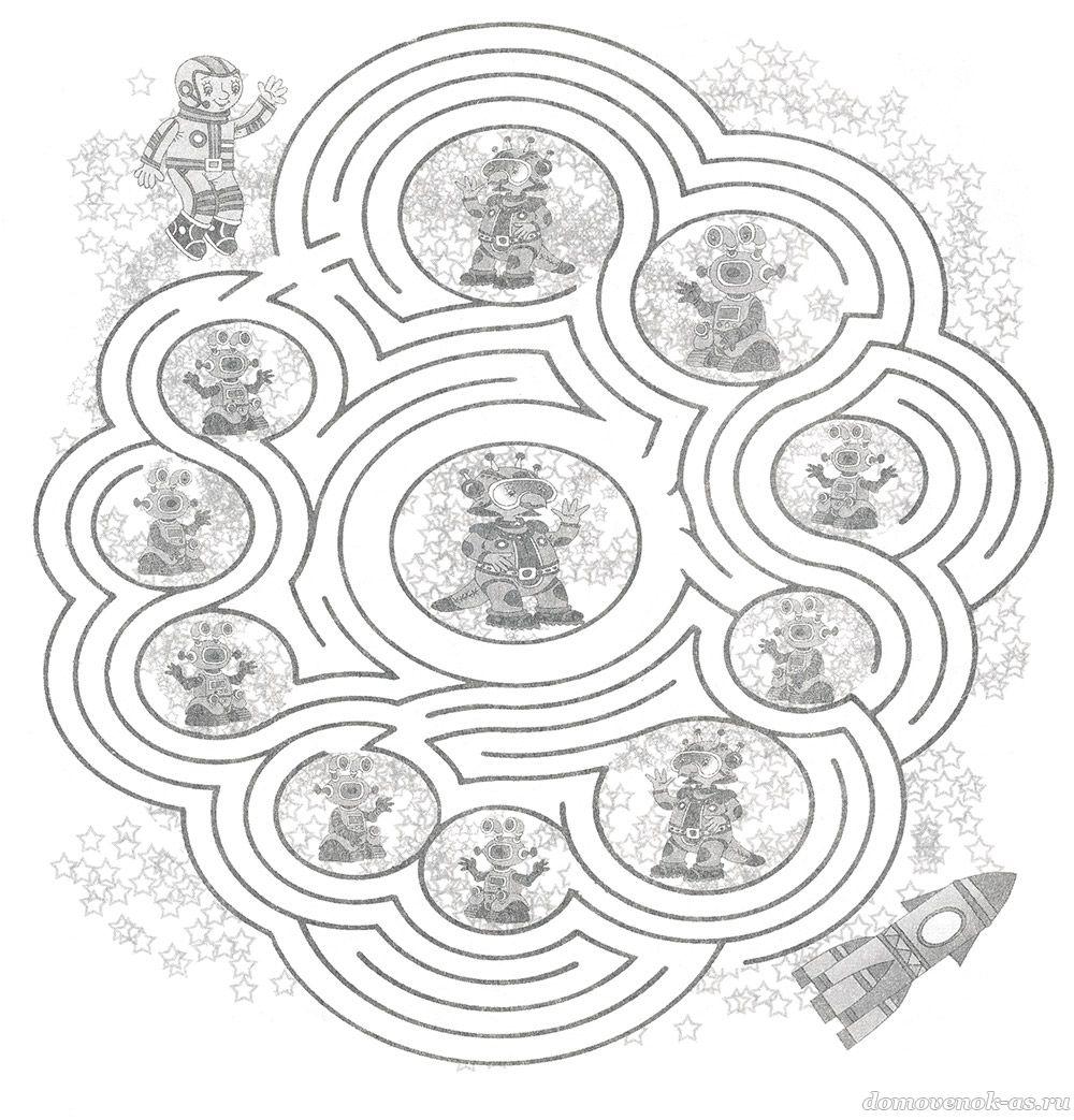 Лабиринт для детей 8-9 лет