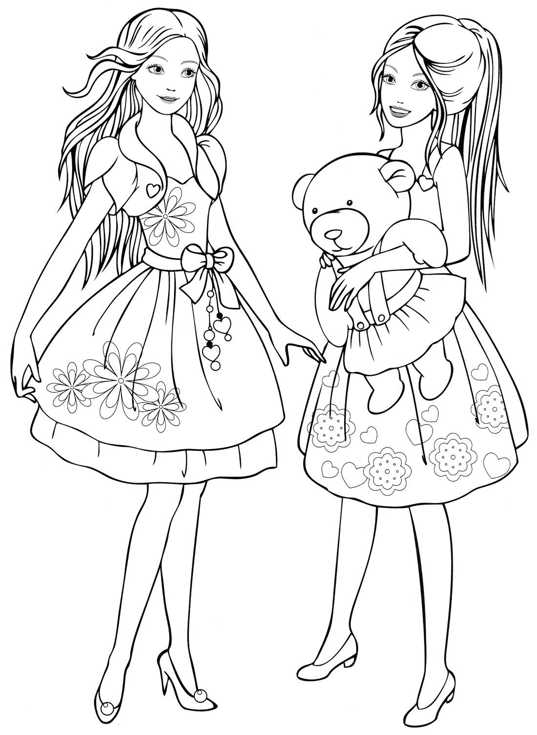 Картинки с красивыми девочками раскраска, мая день