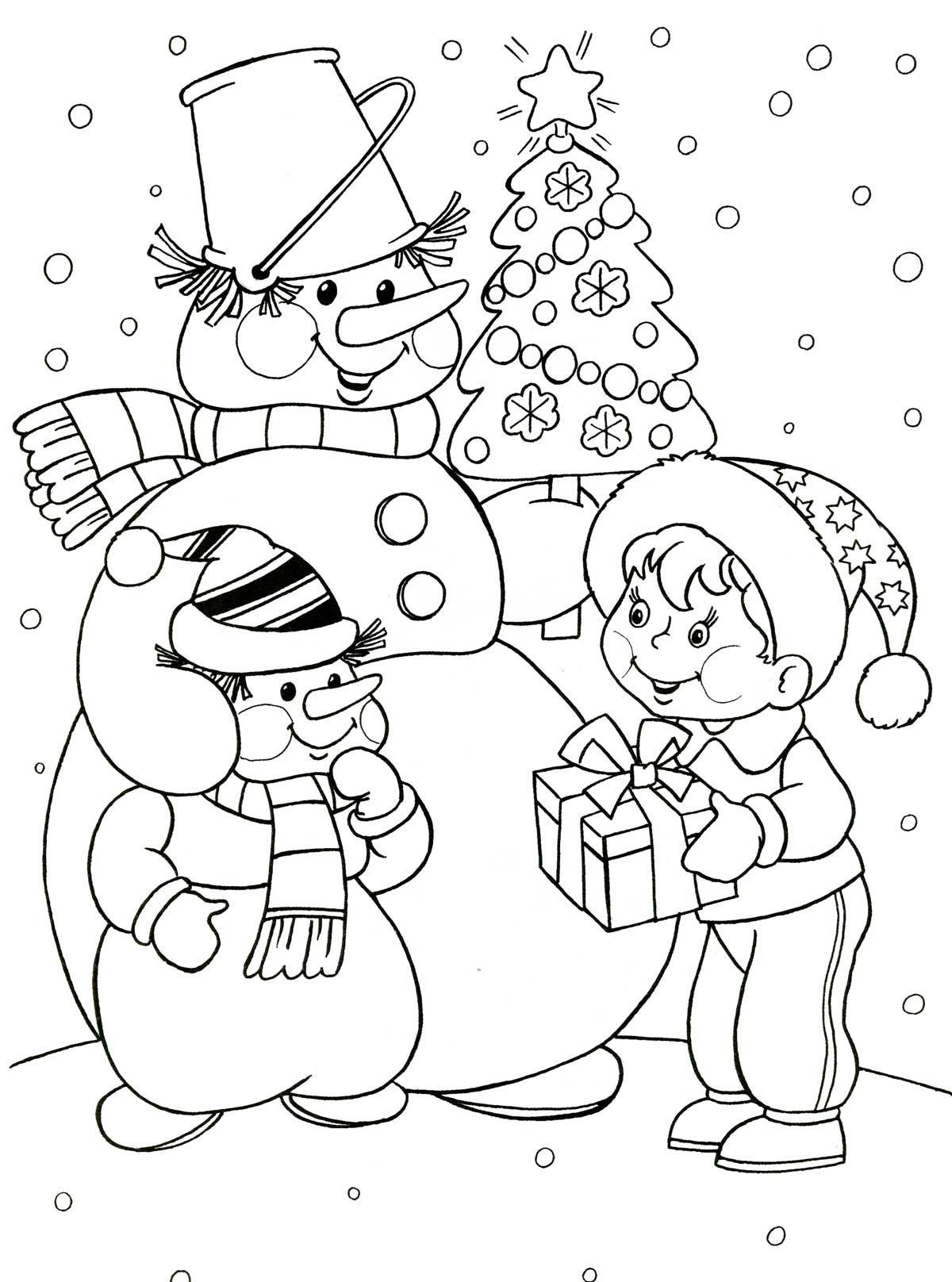 Новогодние раскраски для детей распечатать бесплатно