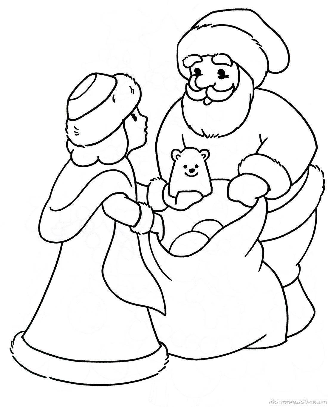 Днем, новогодние картинки для рисования с детьми