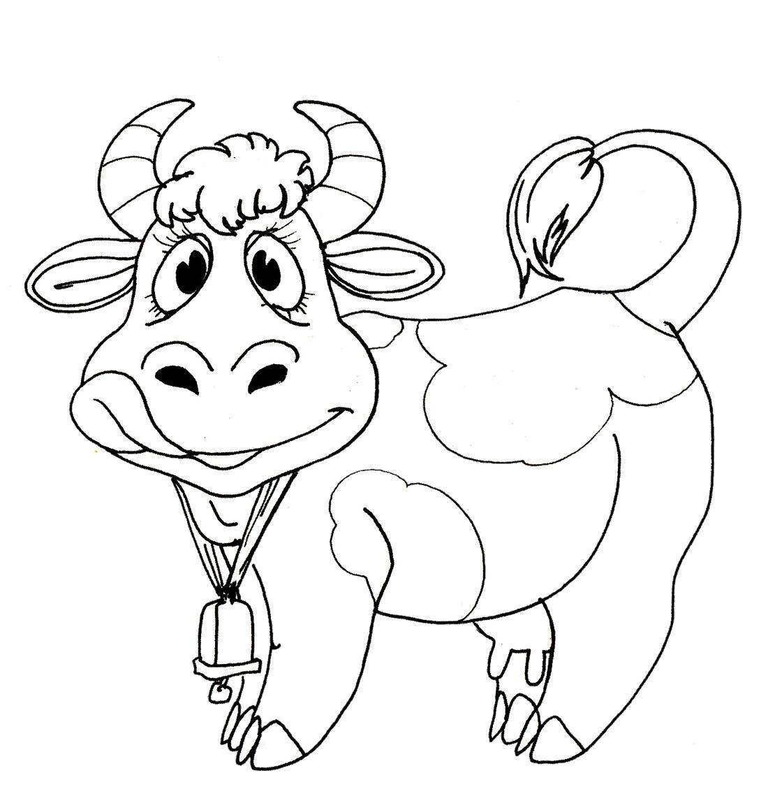 Раскраска. Корова