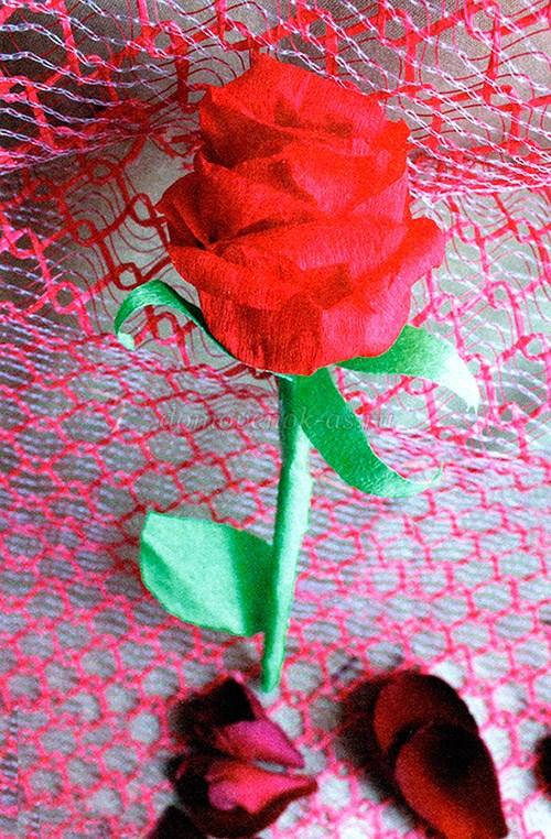 Как сделать цветок из бумаги креповой бумаги своими руками