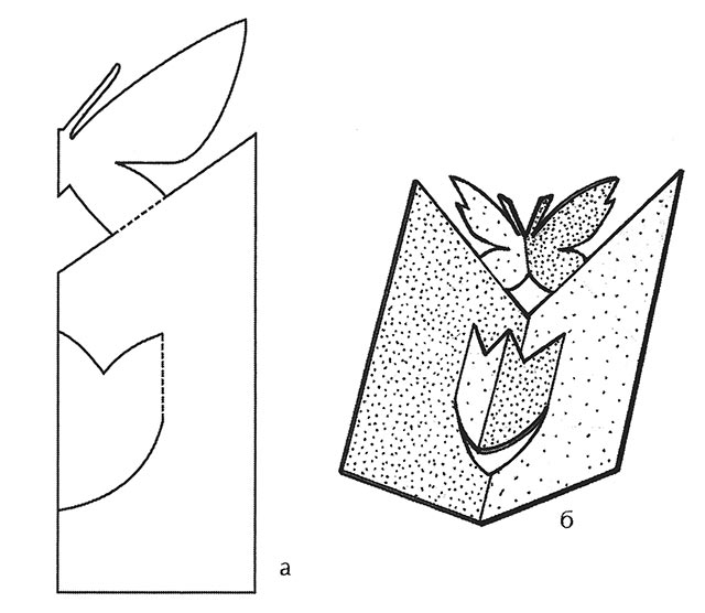 Объемные открытка из бумаги своими руками схемы