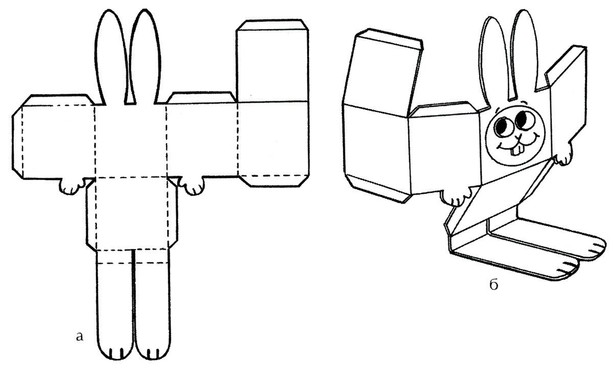 Зайцы своими руками из бумаги