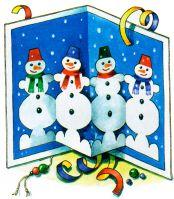 Новогодняя объемные открытки своими руками