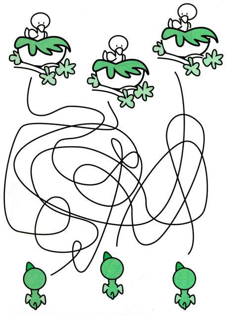 Лабиринты для детей от 4 лет птенцы