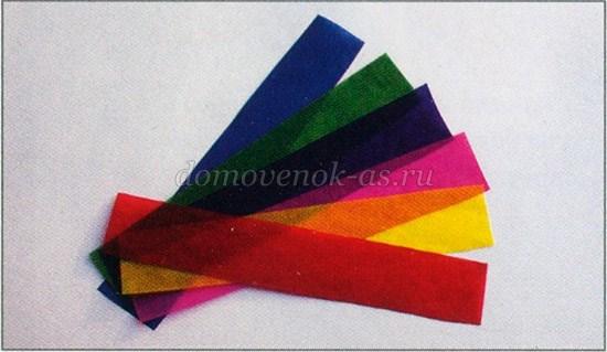 Поделки из металлизированной цветной бумаги 42